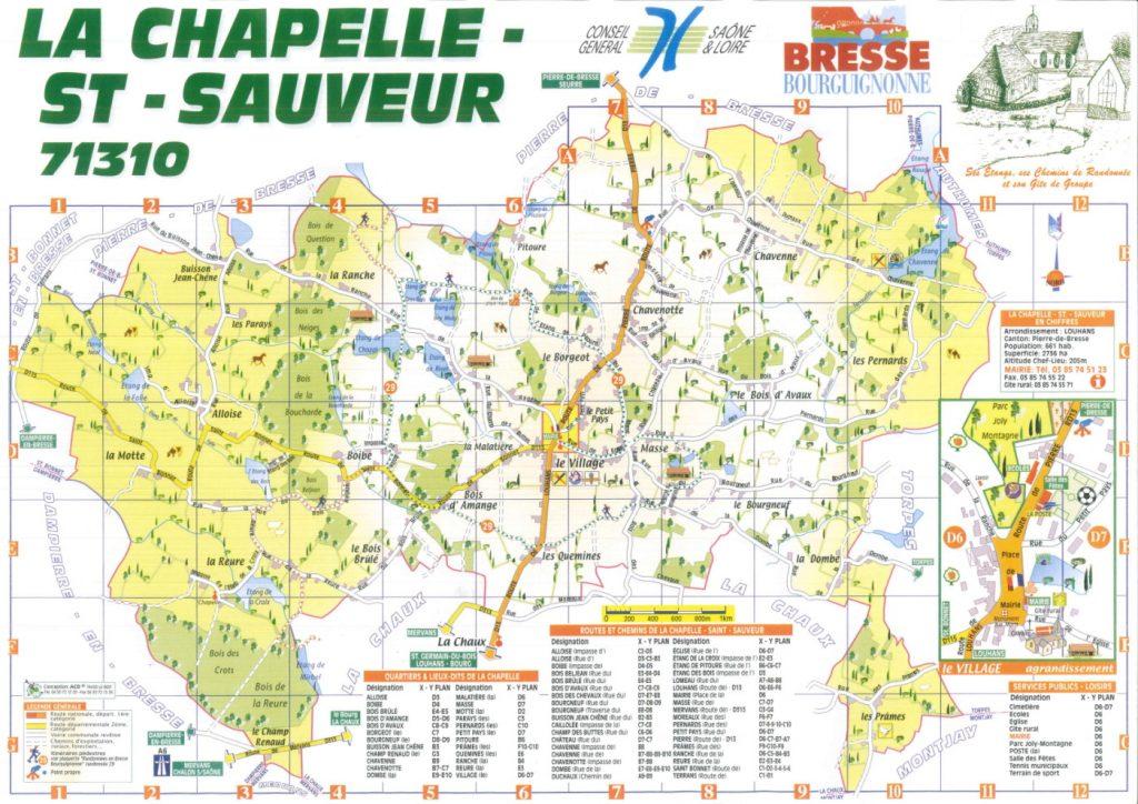 Carte de La Chapelle Saint Sauveur